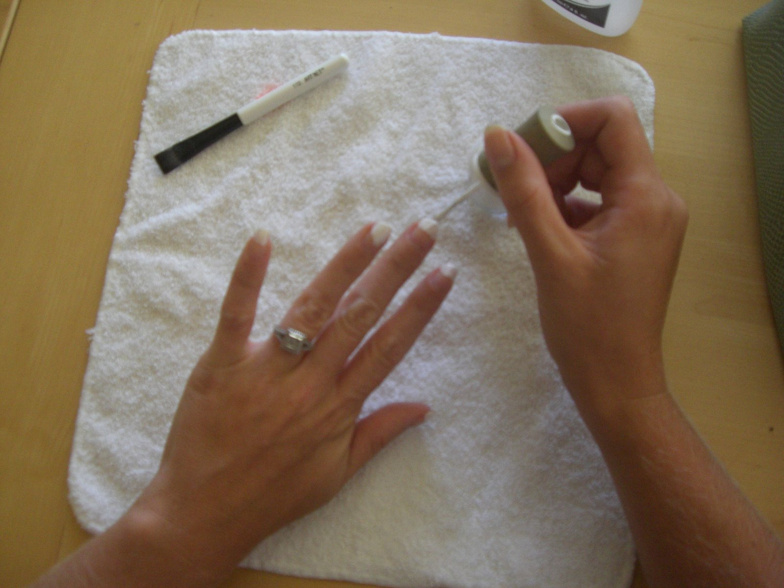 Do it yourself french manicure brittany herself curvy girl guide 2 brush a layer of white onto the tip of each nail if needed add a second coat solutioingenieria Gallery