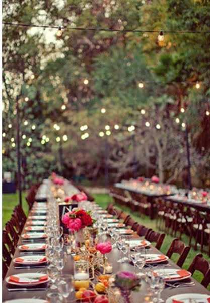 Outdoor Wedding Reception Decorations