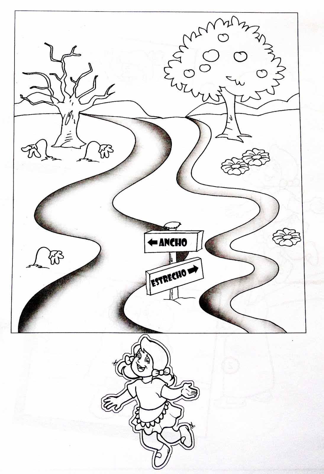Dibujos para colorear ancho-angosto - Imagui