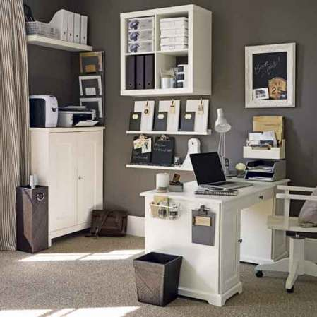 Ikea Home Office On Assume From Ikea Also Make Great Ledges For Office  Accessories I
