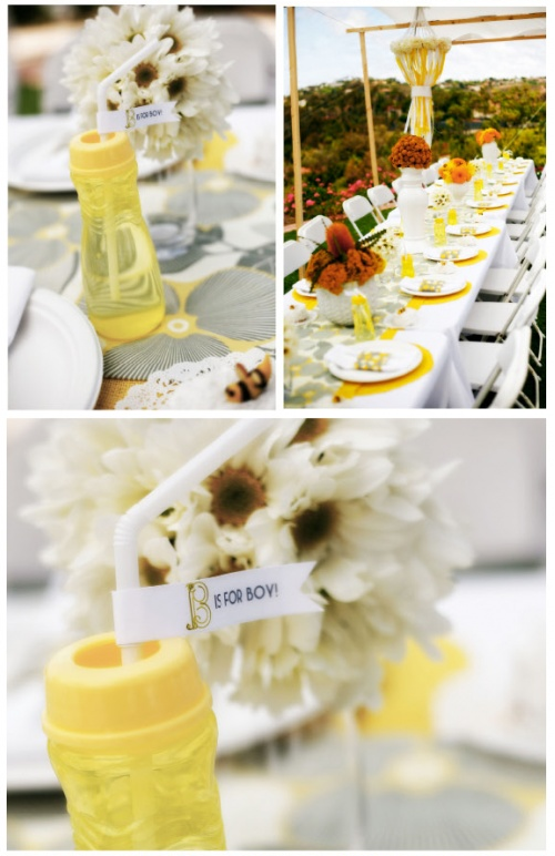 little sooti bumble bee themed baby shower