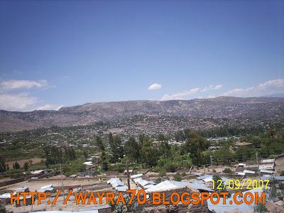 Ciudad de Huamanga, a las afueras; diriéndonos a Cangallo