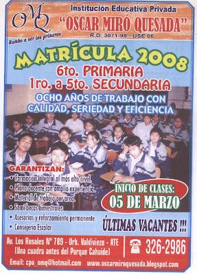 Volante Ciclo Académico 2008