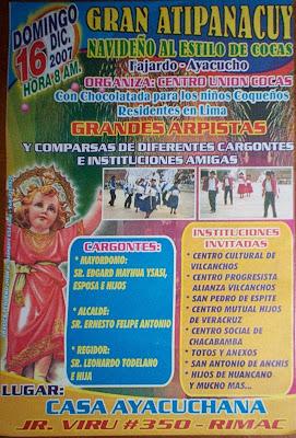 Volante Atipanakuy, Cocas, Vilcanchos, Fajardo