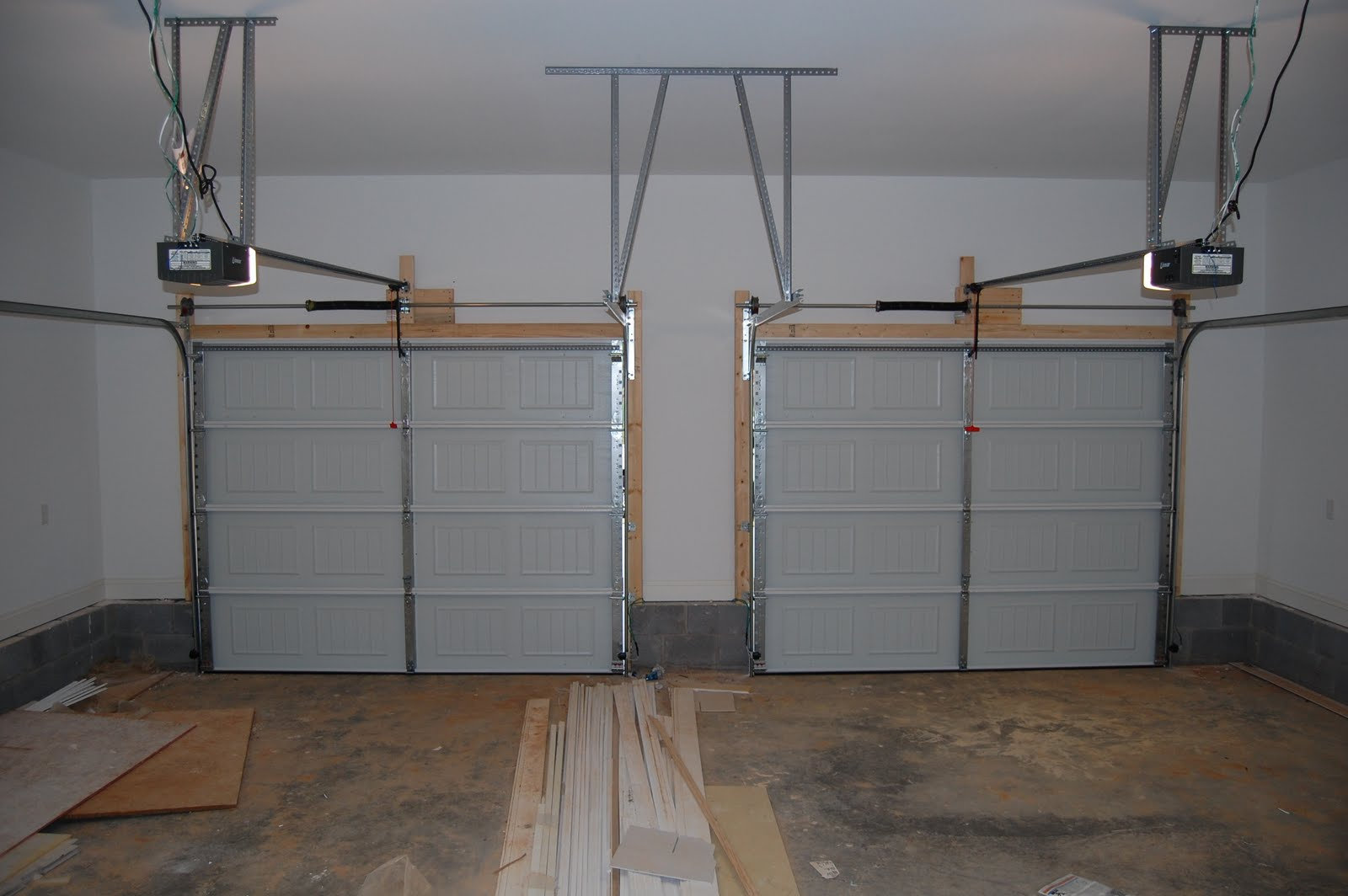 Garage Doors Inside House : Home building project gutters staircase mailbox