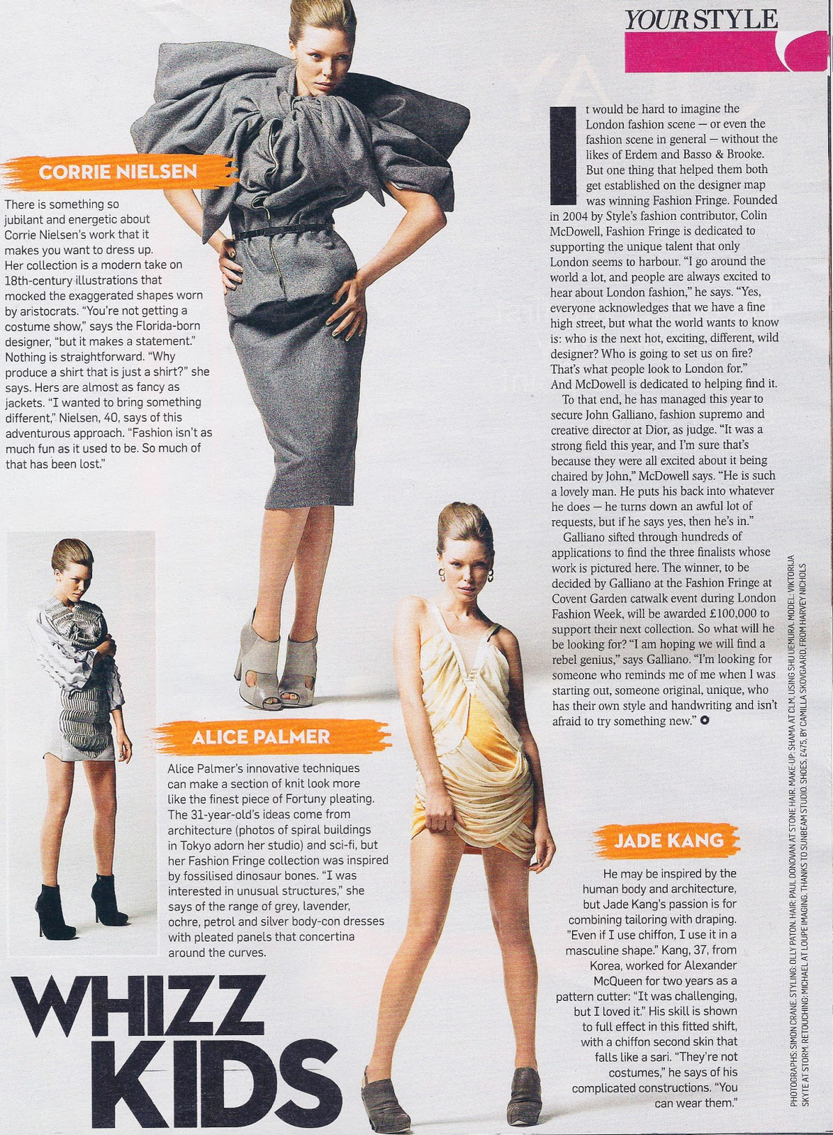 The Fashion Scout Sunday Times Style Features Finalists For Fashion Fringe