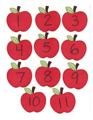 these adorable apples can be print out and used for a variety of ...