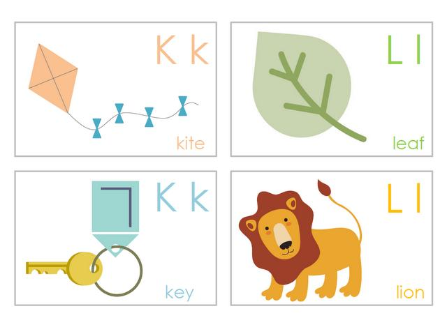 alphabet cards with pictures pdf