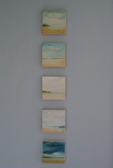 LITTLE PAINTNGS ALL IN A ROW
