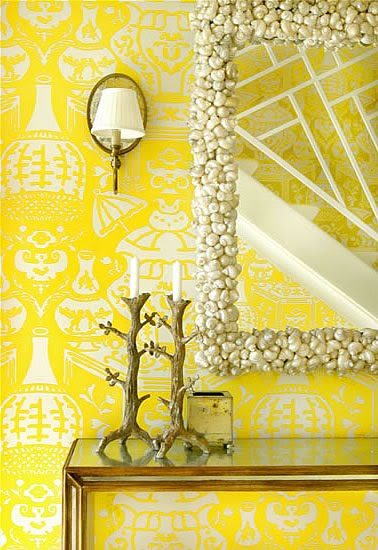 This Lovely Entry In Palm Beach Is By Interior Designer Meg Braff It Wallpapered A Wonderful Paper Designed David Hicks Called The Vase