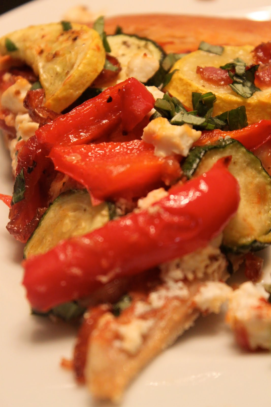 Straight Up Good Food: Summer Roasted Vegetable Pizza with Goat Cheese ...