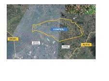 Localização COMPERJ no Google Earth