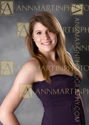 Plano West Senior pictures of girl in photography studio