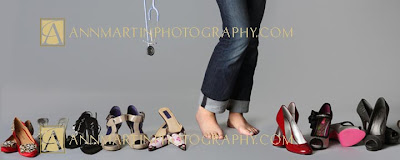 Allen High School senior pictures of girl showing her shoe collection