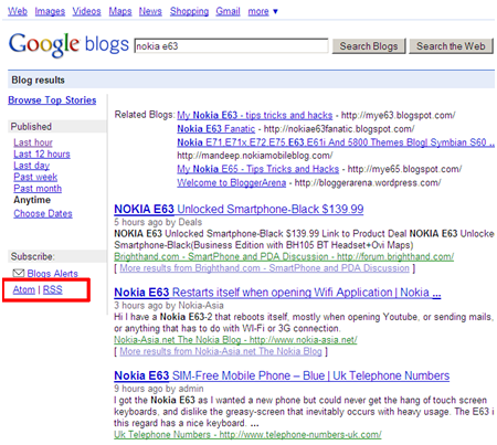 google blogspot. go to Google blog search