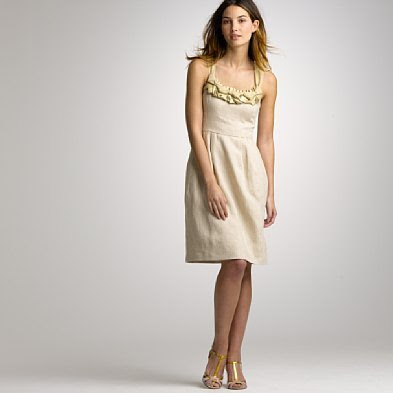 JCrew Goldwyn Flax Linen Dress 185