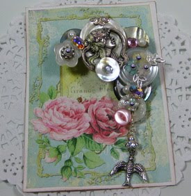 Vintage Button Brooch ~ SOLD
