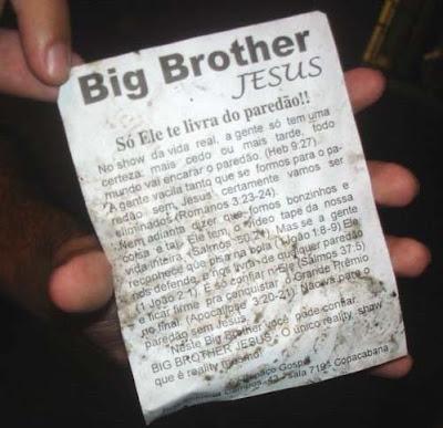 folhetinho distribuído no rio de janeiro. + um testemunho de falta de  criatividade gospel...  ( 41102a7bc04
