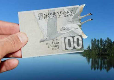 Photoshop illusions of money