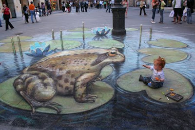 Frog Paint 3D Illusion