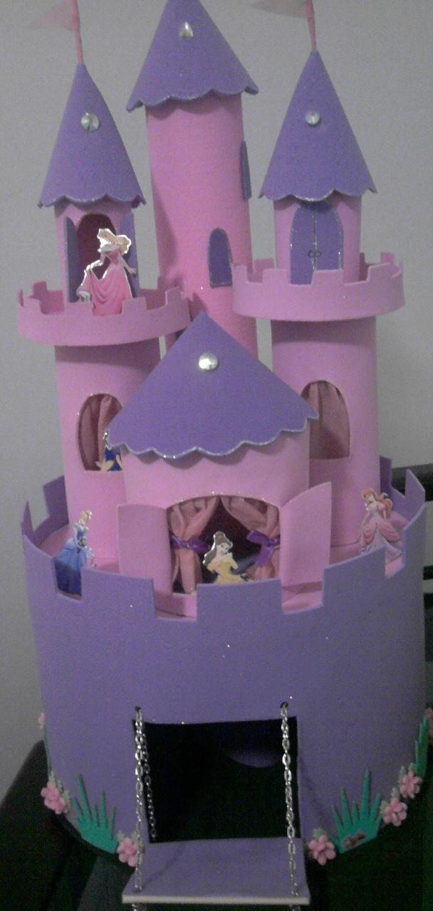 Este Castelo Em EVA Fiz Para O Aniversario Da Minha Filha