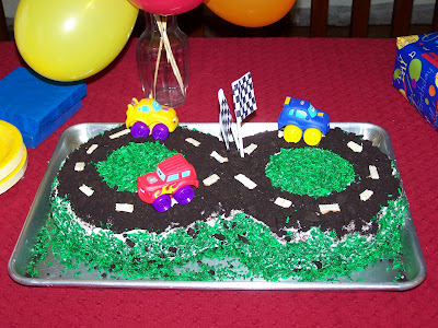 It was my little boys 1st Birthday this week! I did a Race Car theme,