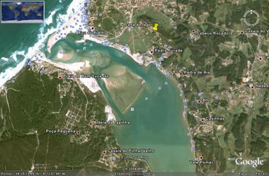 click to enlarge: Foz do Arelho at Google Earth