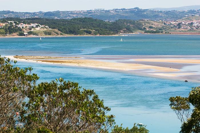 The lagoon viewed from Foz do Arelho