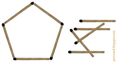 пятиугольник из спичек