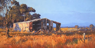 shed landscape oil painting australia andy dolphin