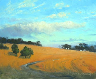 painting in oil plein air landscape sketch andy dolphin