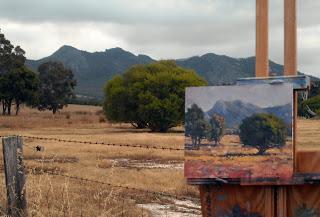 plein air porongurup landscape painting western australia