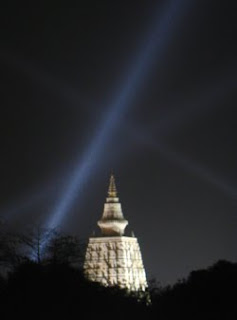Bodhi temple at night
