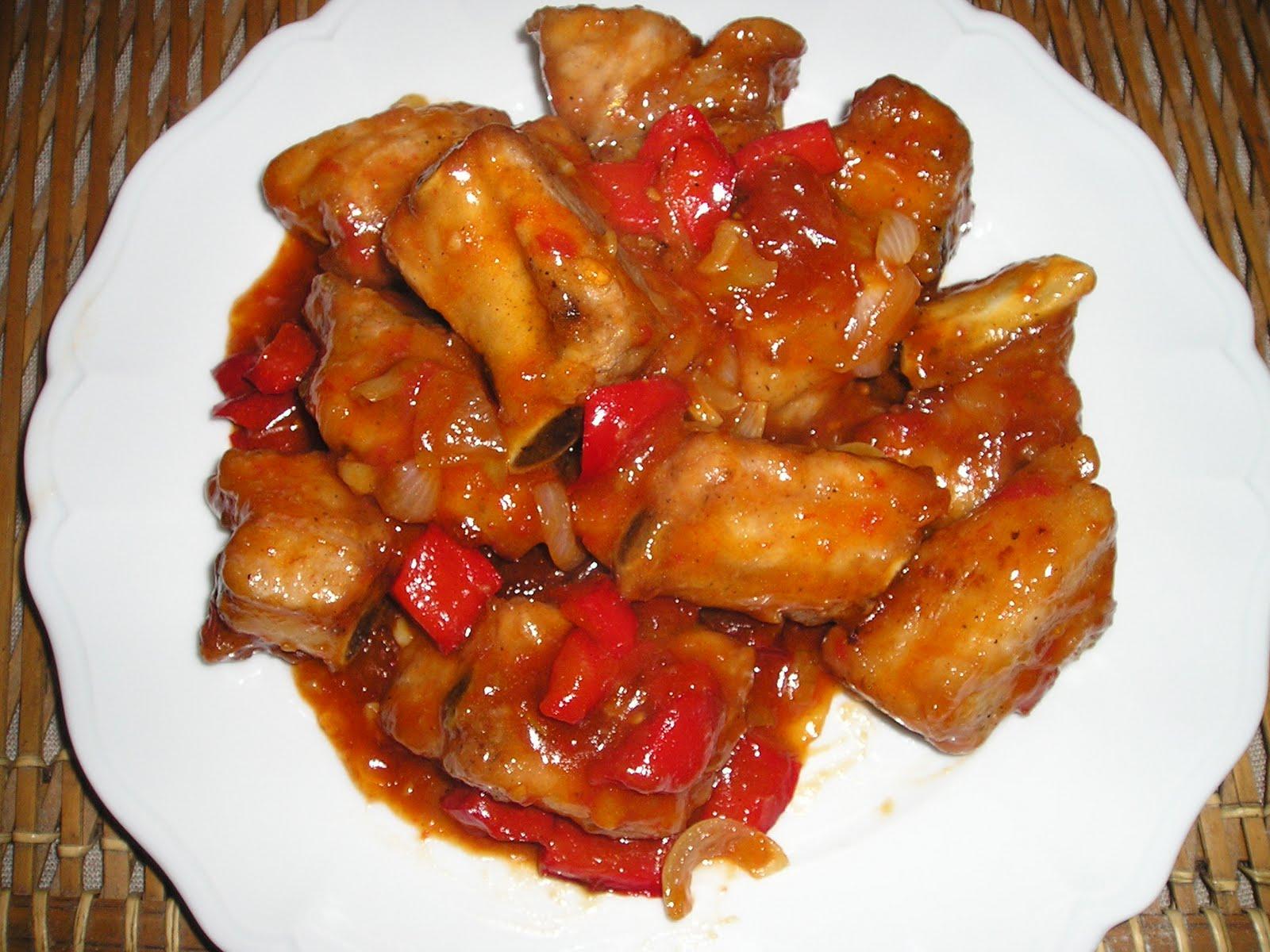 Le canard du m kong travers de porc sauce aigre douce - Blog recette de cuisine asiatique ...