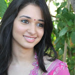 Actress Tamanna cute in pink saree