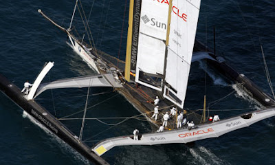 'BMW Oracle.' Because nothing says 'romance of the sea' like corporate sponsorship.