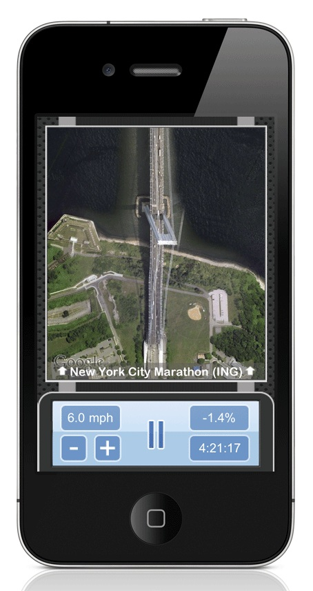 The app uses Google Maps satellite images of any