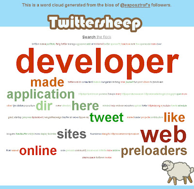 This is a word cloud generated from the bios of eaposztrof's followers.