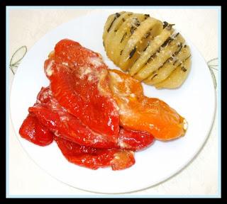 Patate Hasselback e peperoni