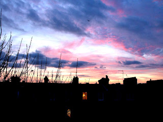 Sunset over South West London