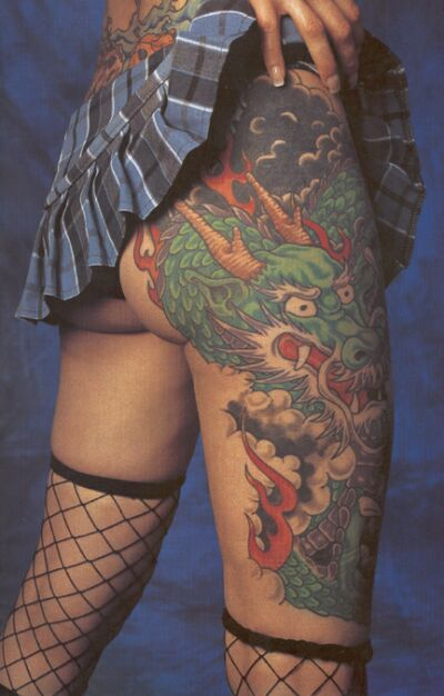 women with full body tattoo