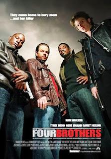 Quatro Irmãos Quatro irmãos adotados (Mark Wahlberg, Tyrese Gibson, André 3000 e Garrett Hedlund) vão juntos sepultar a mulher que os criou. No funeral, eles descobrem que a mãe pode ter sido assassinada e procuram fazer vingança.