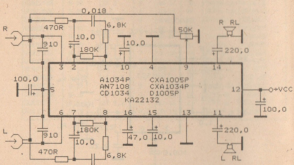 Superb Schematic Audio Power Amplifier With Ic An7110 An7130 New Model Wiring Database Ilarigelartorg