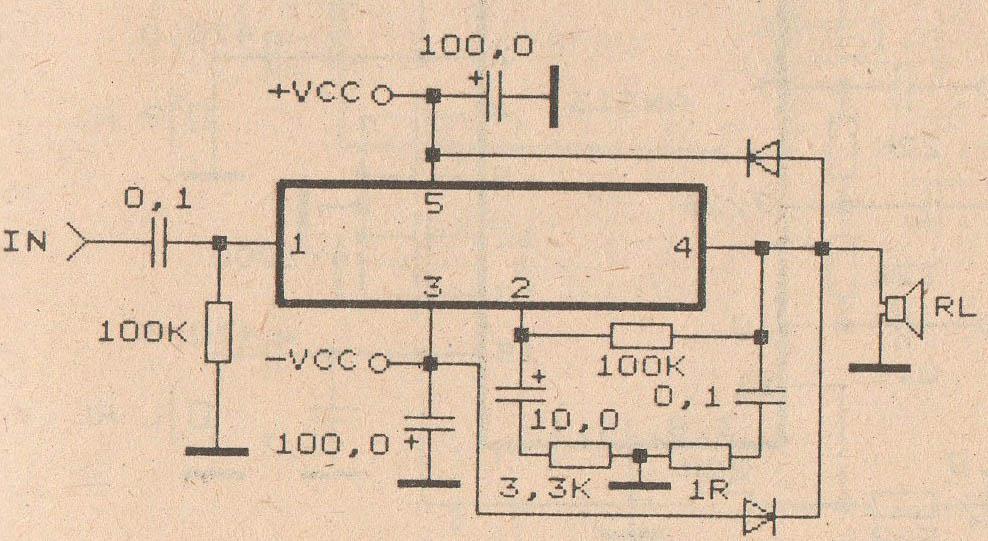 schematic audio amplifier with ic tda2030 subwoofer bass amplifierschematic audio amplifier with ic tda2030