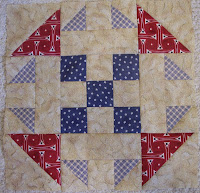 Little Boy's First Quilt, star quilt pattern