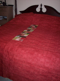 Quilt Delivered and on Their Bed, quilt back