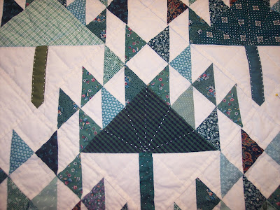 pine tree quilt pattern done as a baby quilt