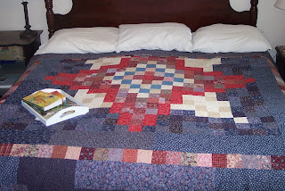 Red, White and Blue Square Star Quilt, The Quilt Ladies Book Collection of Quilt Stories