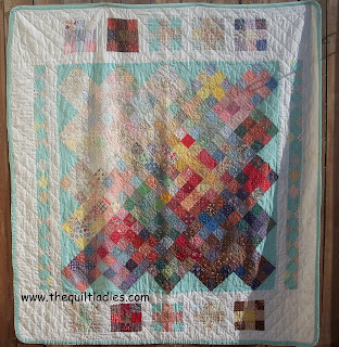 simple square blocks in first quilt