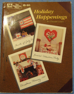 Heart quilt with applique flowers book